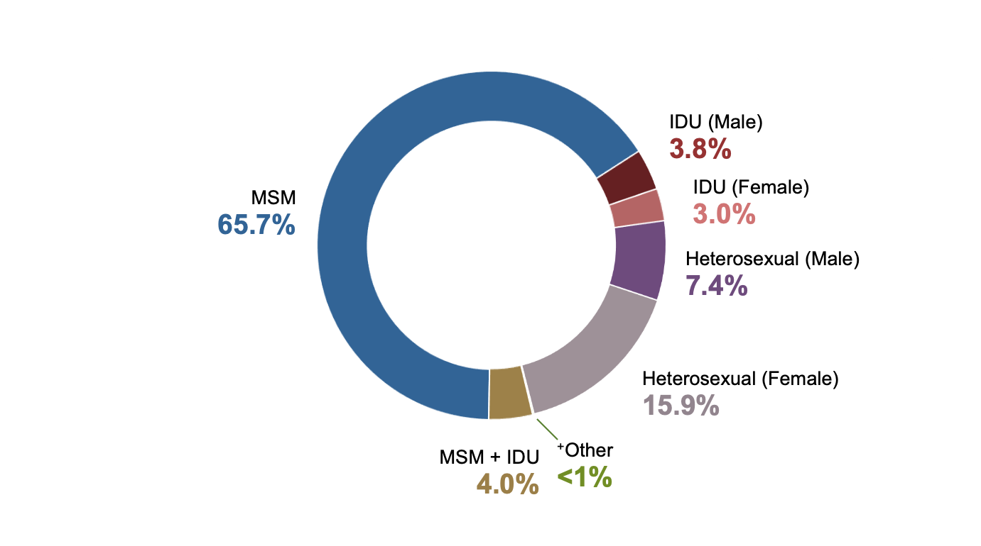 <div>Source: Centers for Disease Control and Prevention. Diagnoses of HIV infection in the United States and dependent areas, 2017. HIV Surveillance Report, 2017; vol. 29:1-129. Published November 2018.</div>